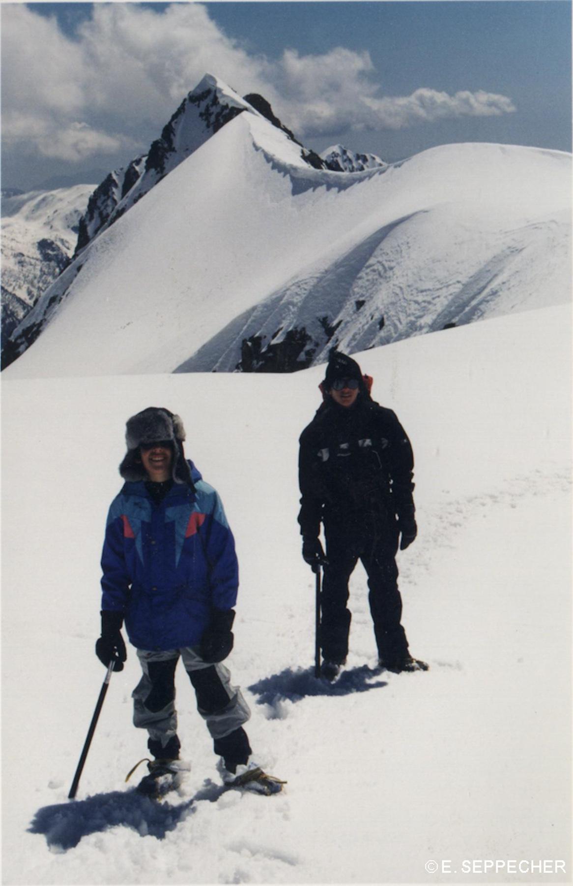 Les deux frangins au Gelas, 1999?
