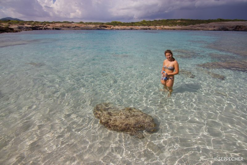 La plage bien tranquille de S'Aglar.